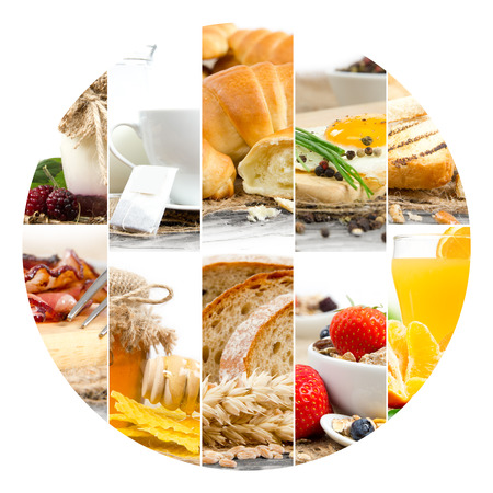 circle shape: Photo of Breakfast mix slices with circle shape