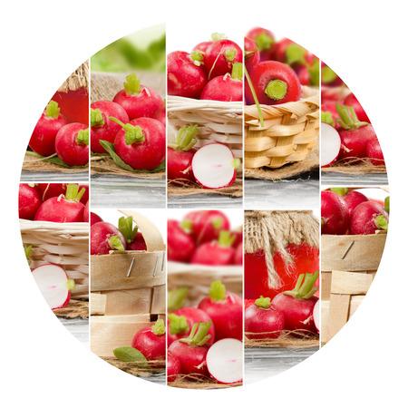 circle shape: Photo of fresh kiwi abstract mix in a circle shape Stock Photo