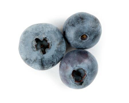 Blueberry group isolated on white background.