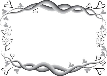 Linea di disegno bordo grigio. Archivio Fotografico - 96963851