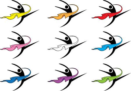 création de logo icône danseuse