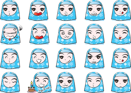 Scarf girl Expression package