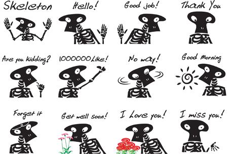 Skeleton Expression package  イラスト・ベクター素材
