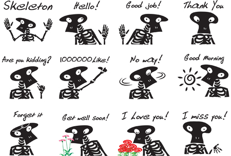 Skeleton Expression package Stock Illustratie