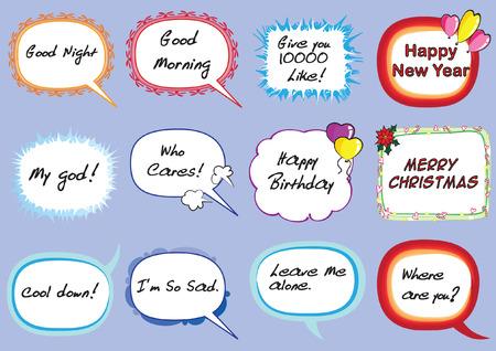 Set di bolle di discorso. Archivio Fotografico - 97729810