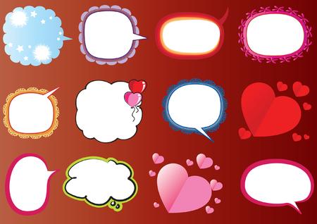 Set di bolle di discorso. Archivio Fotografico - 97729828