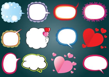 Speech bubble set.
