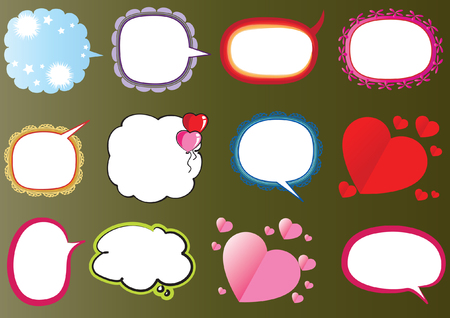Set di bolle di discorso. Archivio Fotografico - 97729823
