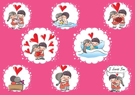 Set di carte di San Valentino. Archivio Fotografico - 97730401