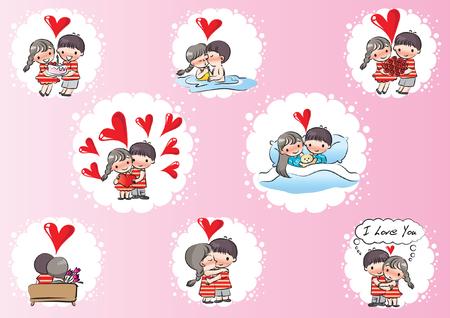 Set di carte di San Valentino. Archivio Fotografico - 97730408