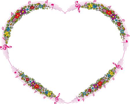 Bordo del fiore a forma di cuore Archivio Fotografico - 97109502