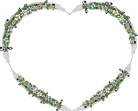 Bordo del fiore a forma di cuore Archivio Fotografico - 97109537