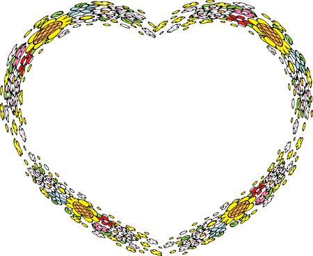 heart shape flower border