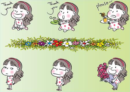 Litter girls life Illustration