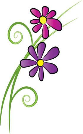 purple flowr Vettoriali