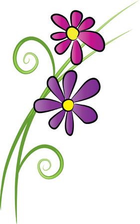 purple flowr Illustration
