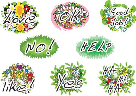flower greeting card Ilustrace