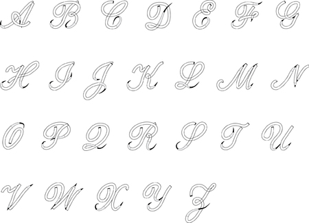 alphabet letters Vector illustration.