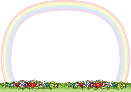 rainbow border Vector illustration.