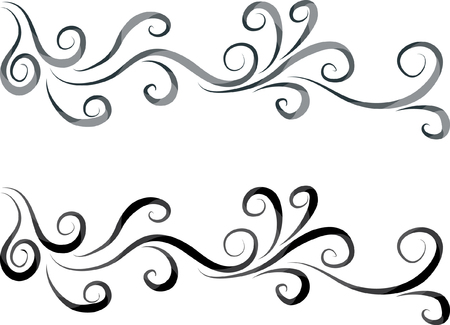 vector line ornamental design