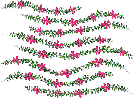 Floral background in horizontal pattern