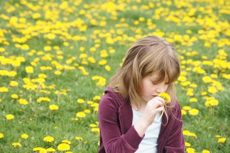 amongst: Girl Amongst Dandelions