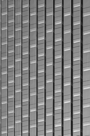 specular: Exterior view of office glass panel Stock Photo