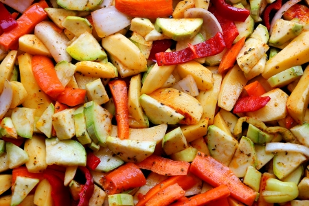 oven potatoes: Oven potatoes with vegetables