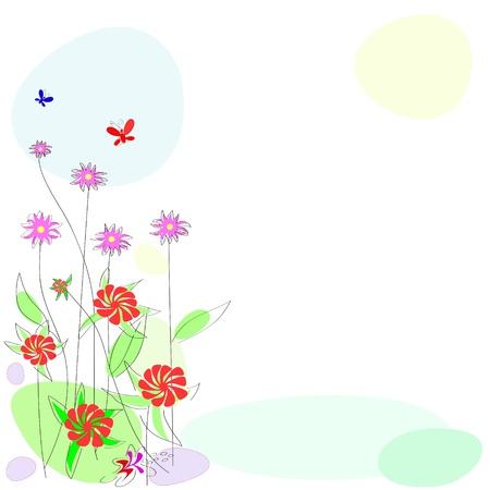 Blume Hintergrund. abstrakten Hintergrund mit bl�henden Pflanzen