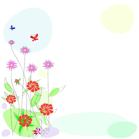 fertility:  flower background. abstract background with flowering plants