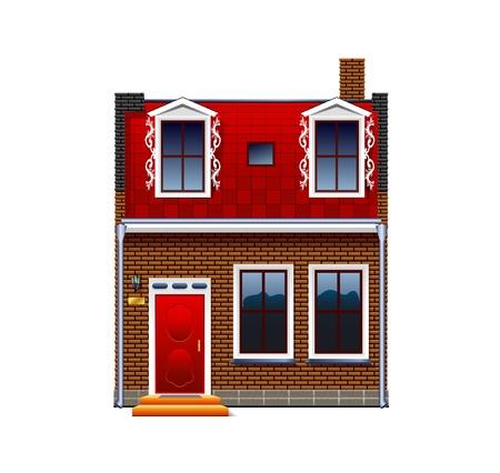 Ein kleines Haus auf einem wei�en Hintergrund Illustration
