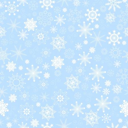 Illustration of seamless snowflakes background