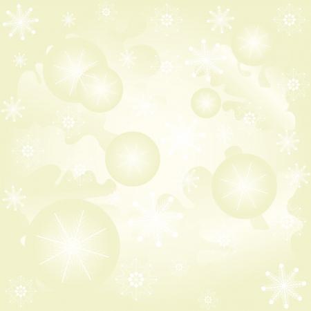 Abstract winter von mit Weihnachtskugeln und Schneeflocken