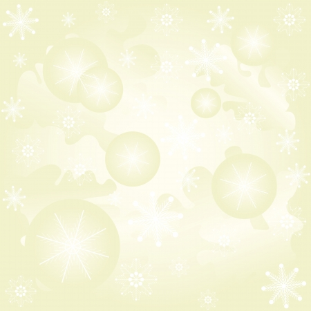 Abstract winter von with Christmas balls and snowflakes Vector