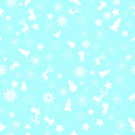 Snowflakes, Christmas decorations on blue background