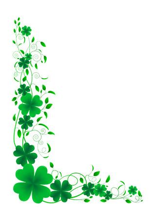 Floral ornament leaf clover on a white background. Illustration