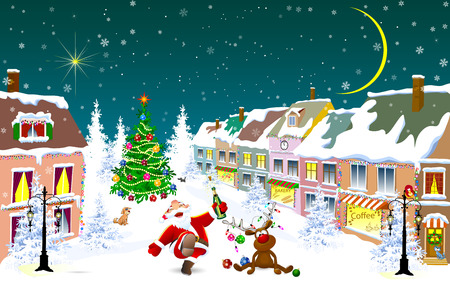 House With Christmas Lights Clipart.1 547 Christmas Lights Street Cliparts Stock Vector And