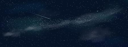 Space background. Shining stars and nebula. Night starry sky. Illusztráció