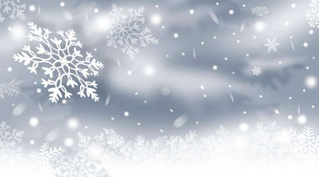 Abstract winter background with snowflakes. Winter. Snow. Christmas background.