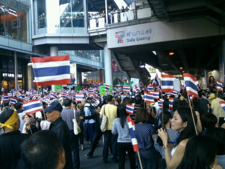 silom: Thailand anti-government protest at Silom Road on Nov 42013