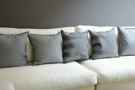 pillows: Pillows on sofa