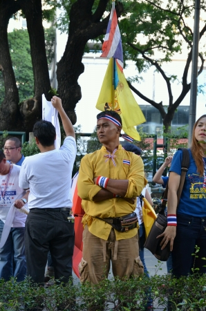 expel: JAN 13 2014 Thai anti-government protester