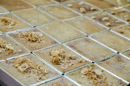 maw: Khanom Maw Kaeng, Thai Custard Dessert Stock Photo