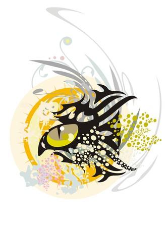 fish form: Cat eye graffiti