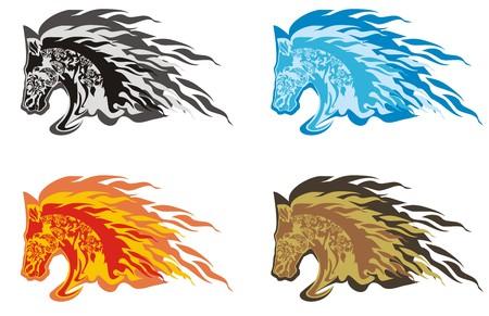 horse head: Flaming horse head