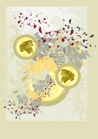 pastel tone: Lions background Illustration