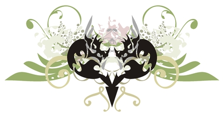 Dragon heart with splashes Vector
