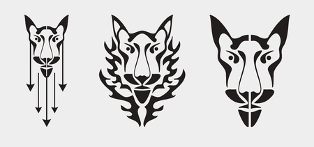 Fox head symbol - three variants