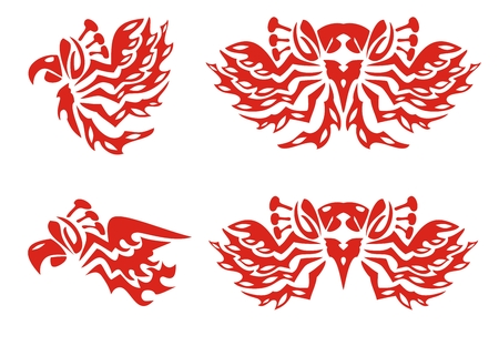 Phoenix symbols  Red on the white