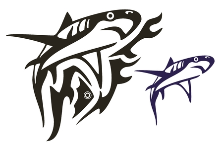 Tribal shark vector Vector